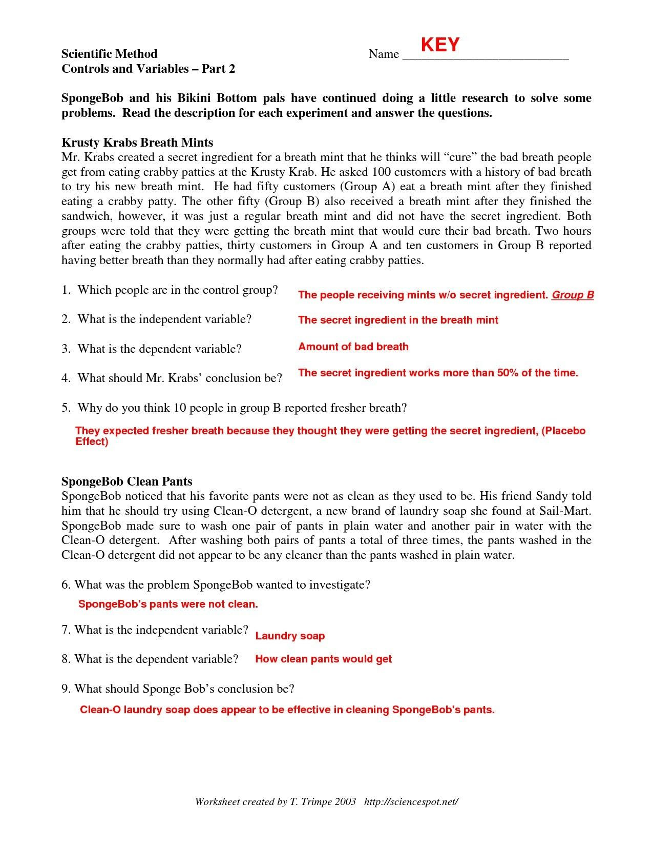 Scientific Method Worksheet 5th Grade