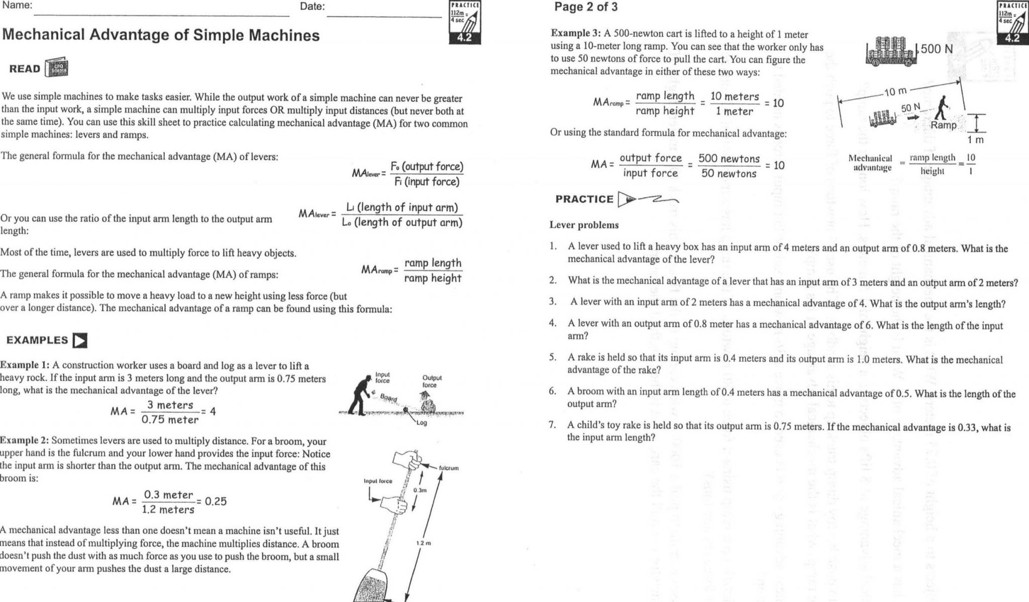 Worksheet On Heat