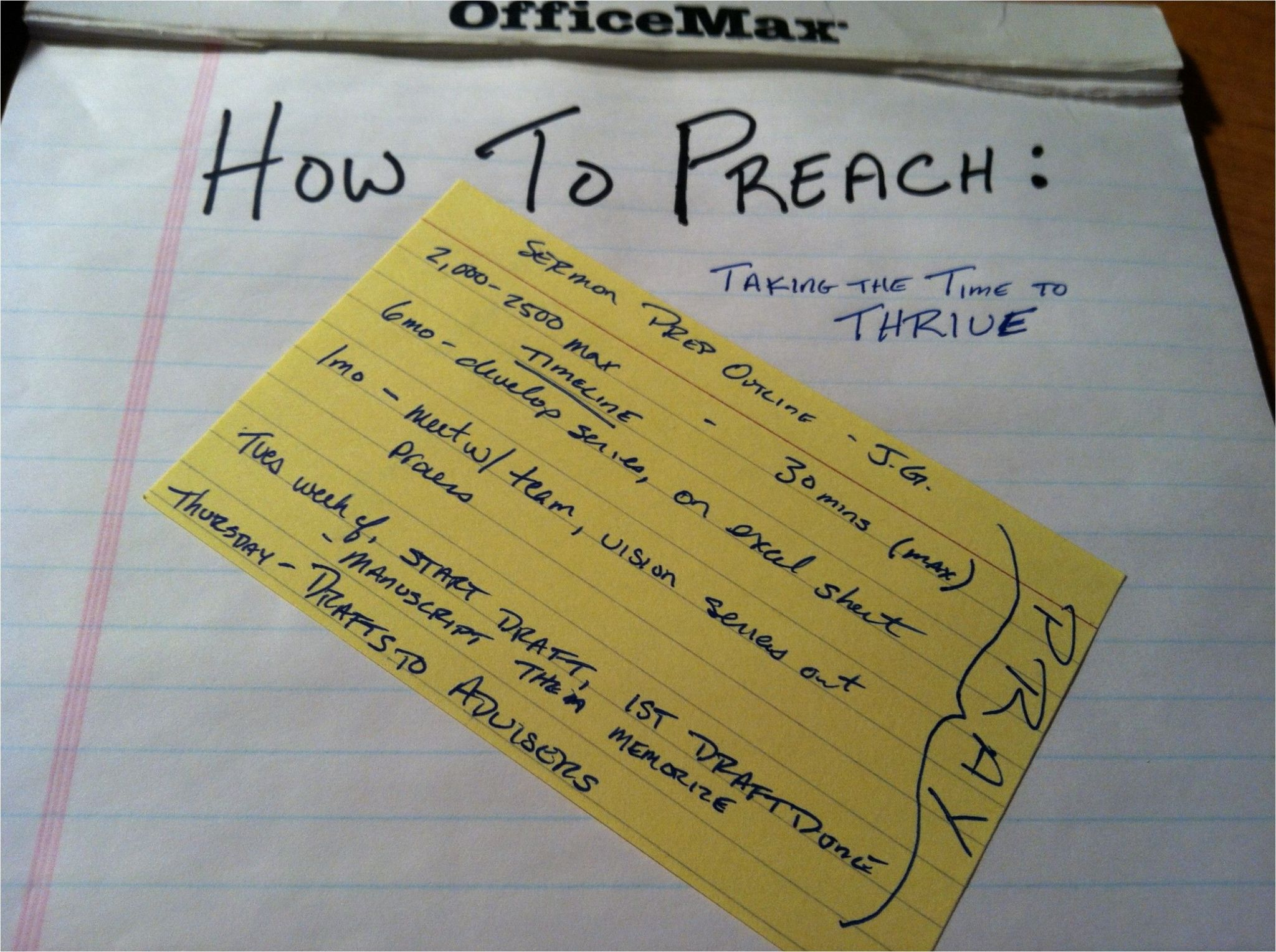 Sermon Preparation Worksheet