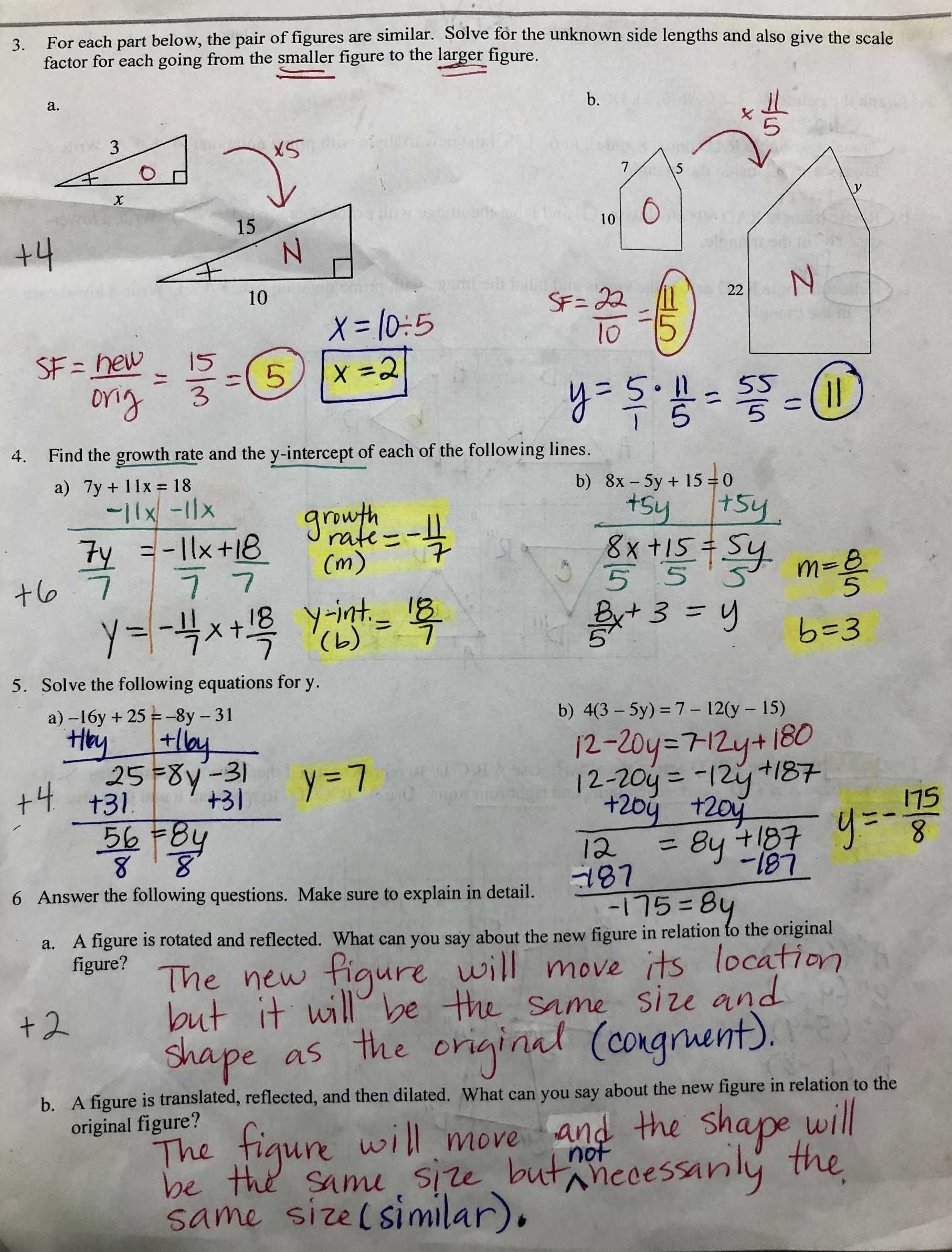 Similarity And Proportions Worksheet Answers