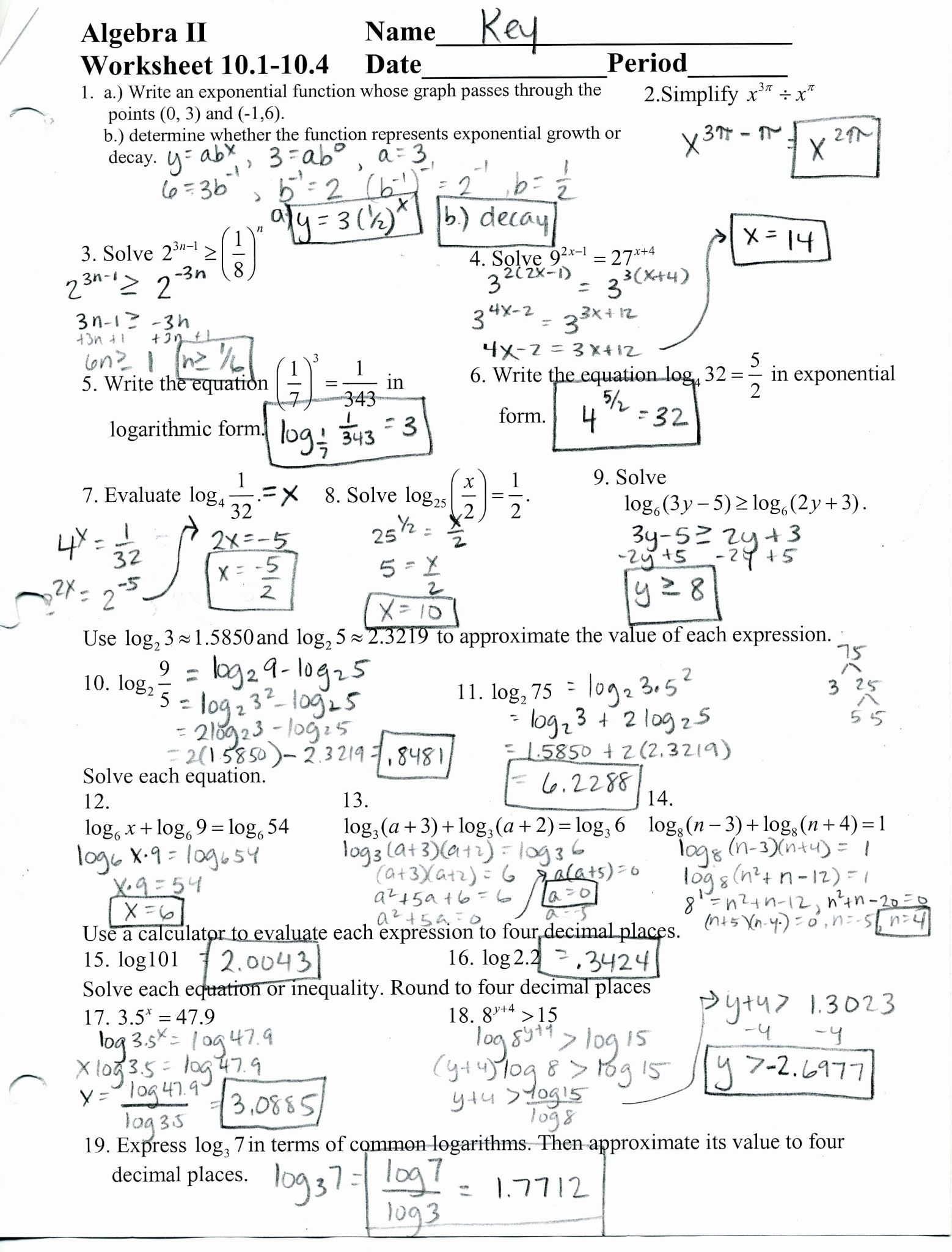 Simplifying Complex Numbers Worksheet