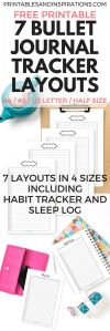 Free printable bullet journal tracker layout bud binder expense tracker habit tracker