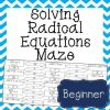 This solving radical equations maze is a self checking worksheet that allows students to strengthen