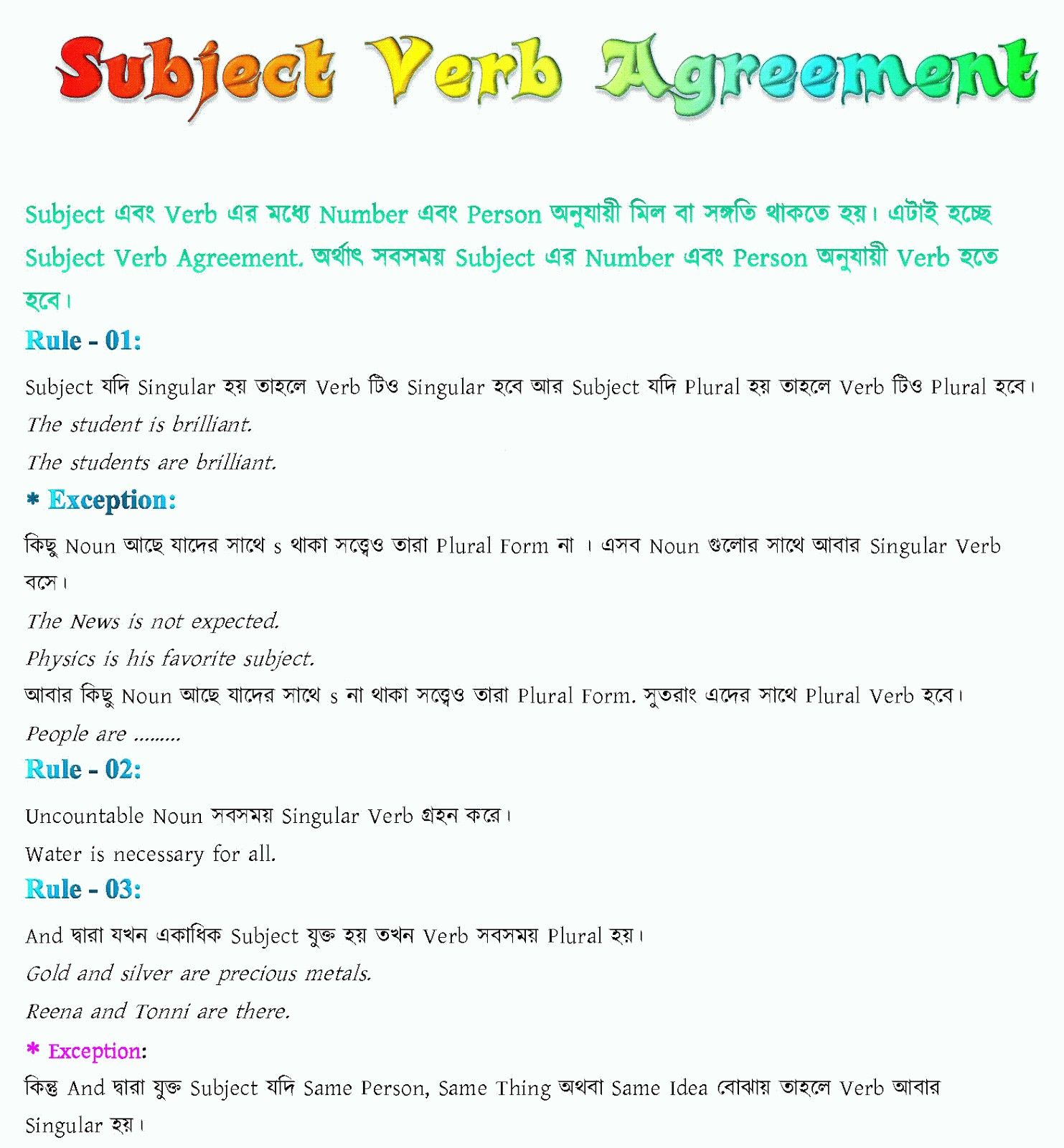 Subject Predicate Worksheet