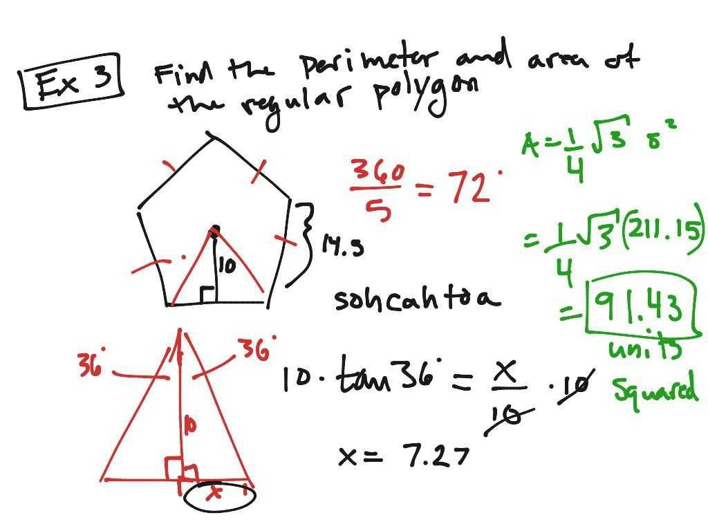 Surface Area Of Polygons Worksheet