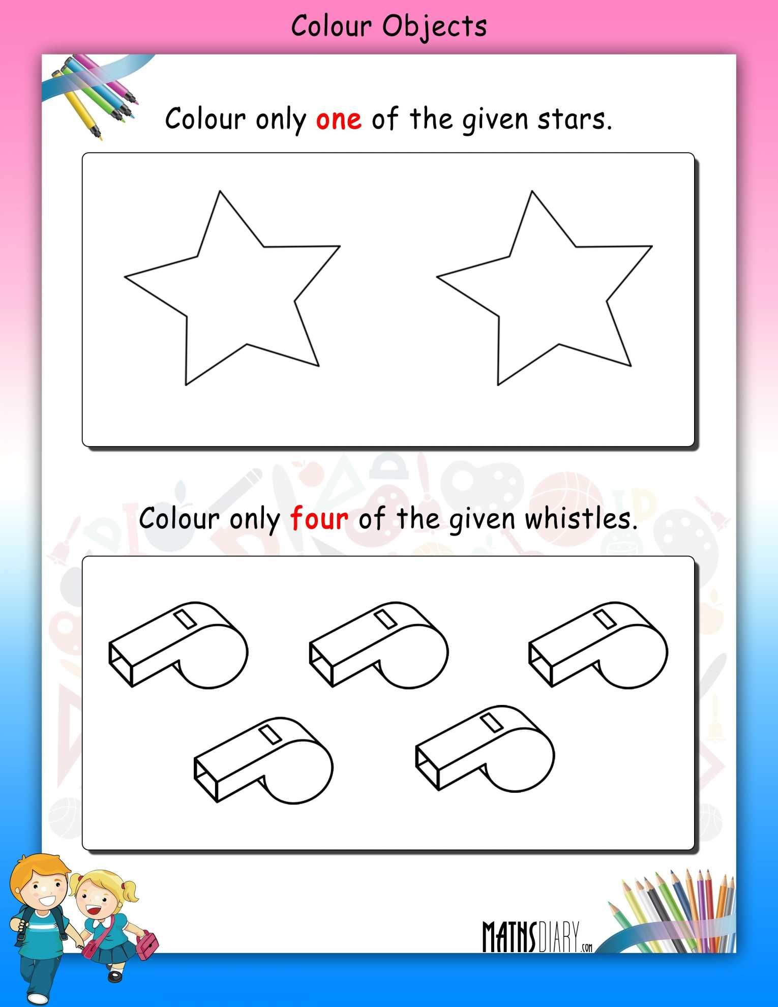 Green Color Kindergarten Worksheet Printable