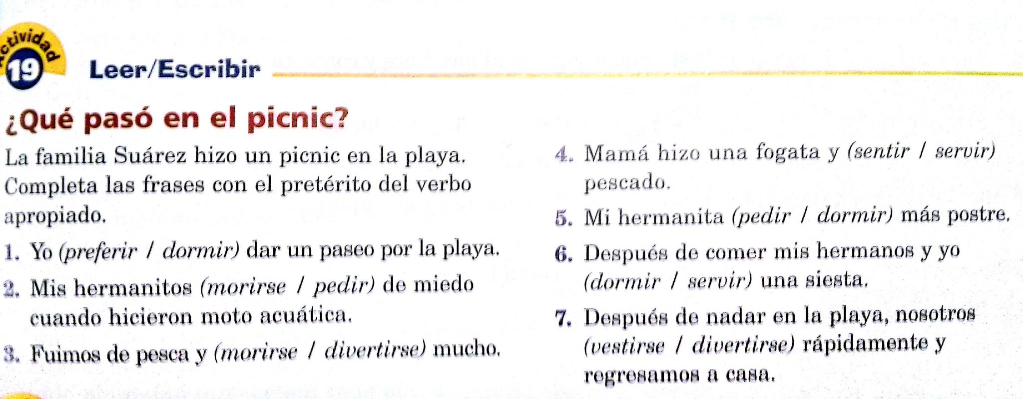 The Imperfect Tense In Spanish Worksheet Answer Key