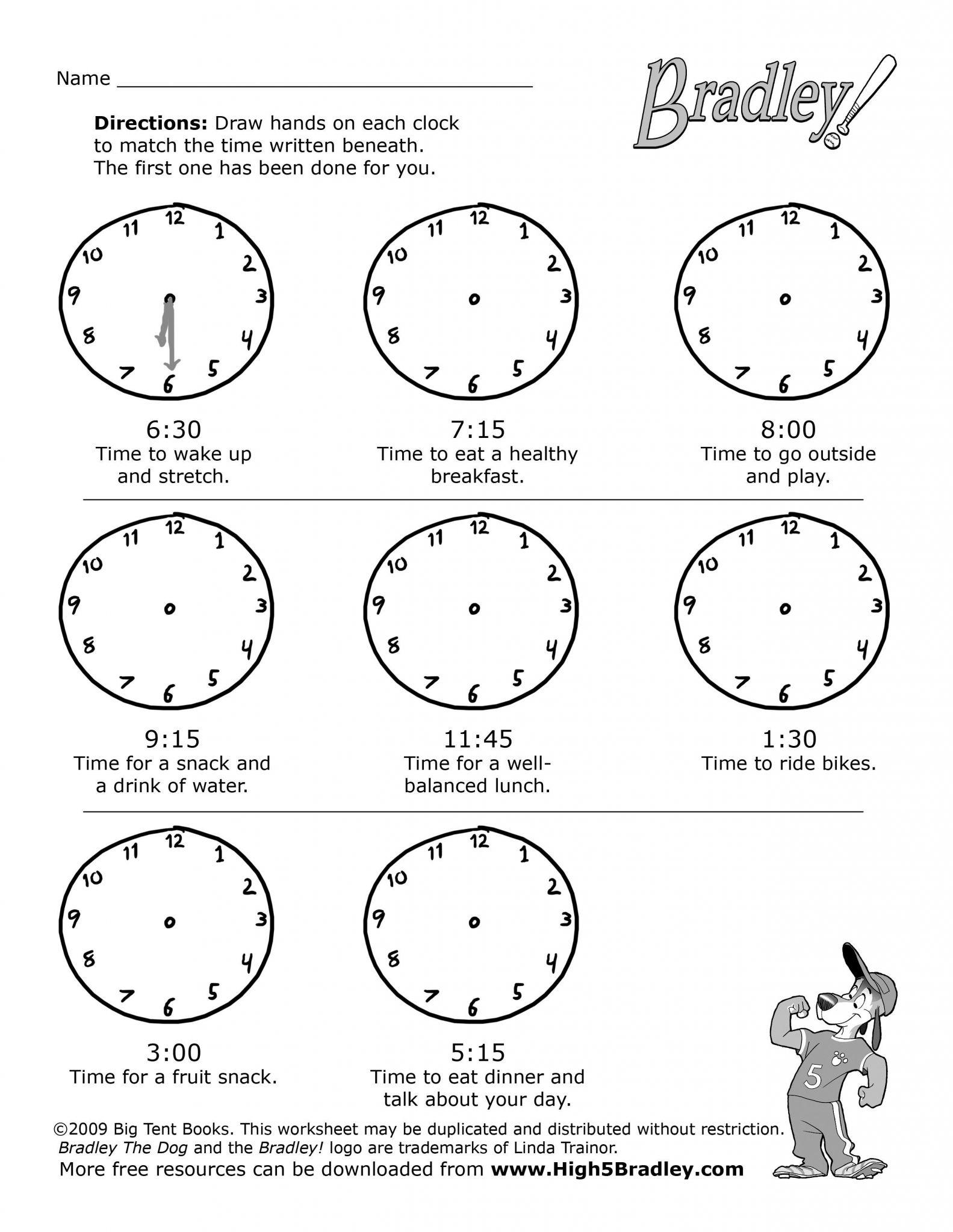 Time Worksheets Grade 3