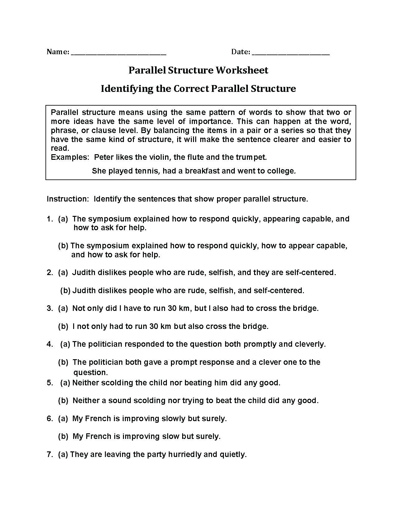 Transitive And Intransitive Verbs Worksheets