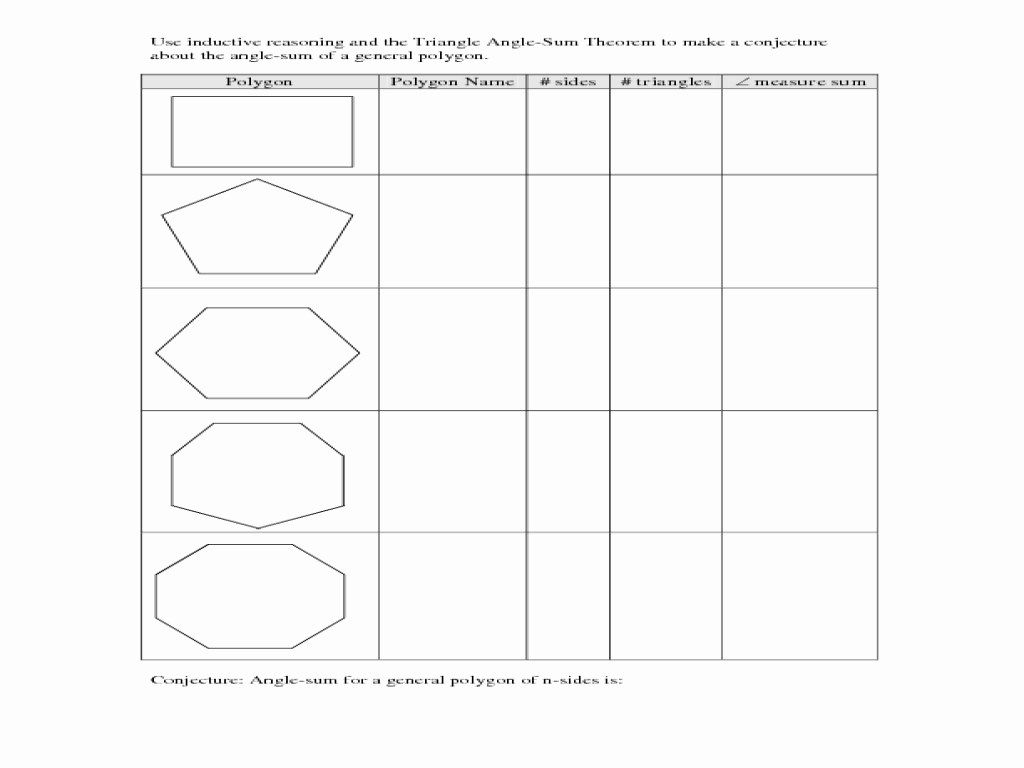 Triangle Sum And Exterior Angle Theorem Worksheet