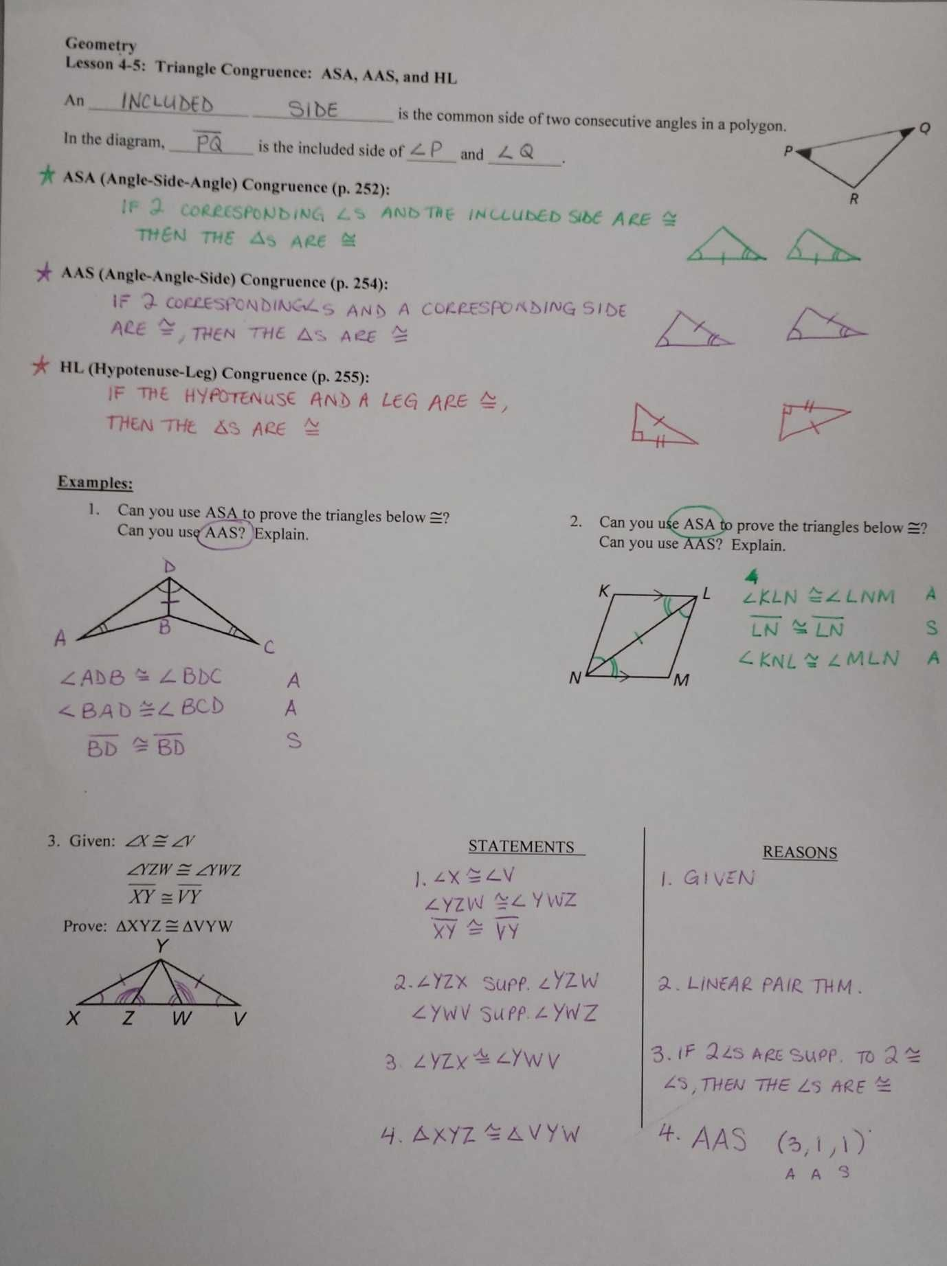 Two Column Proof Practice Worksheets