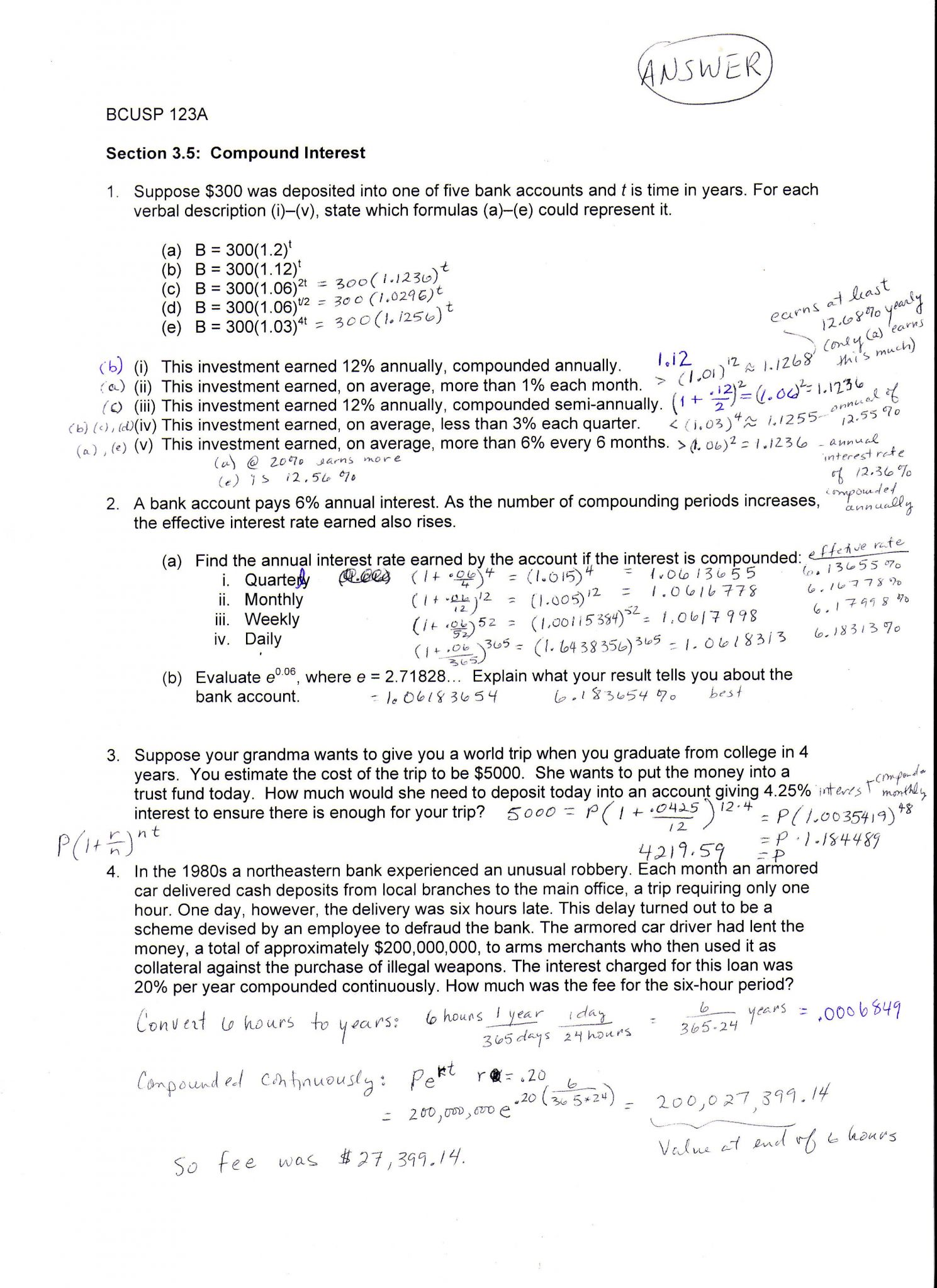 Unit 3 Worksheet 2 Chemistry Answers