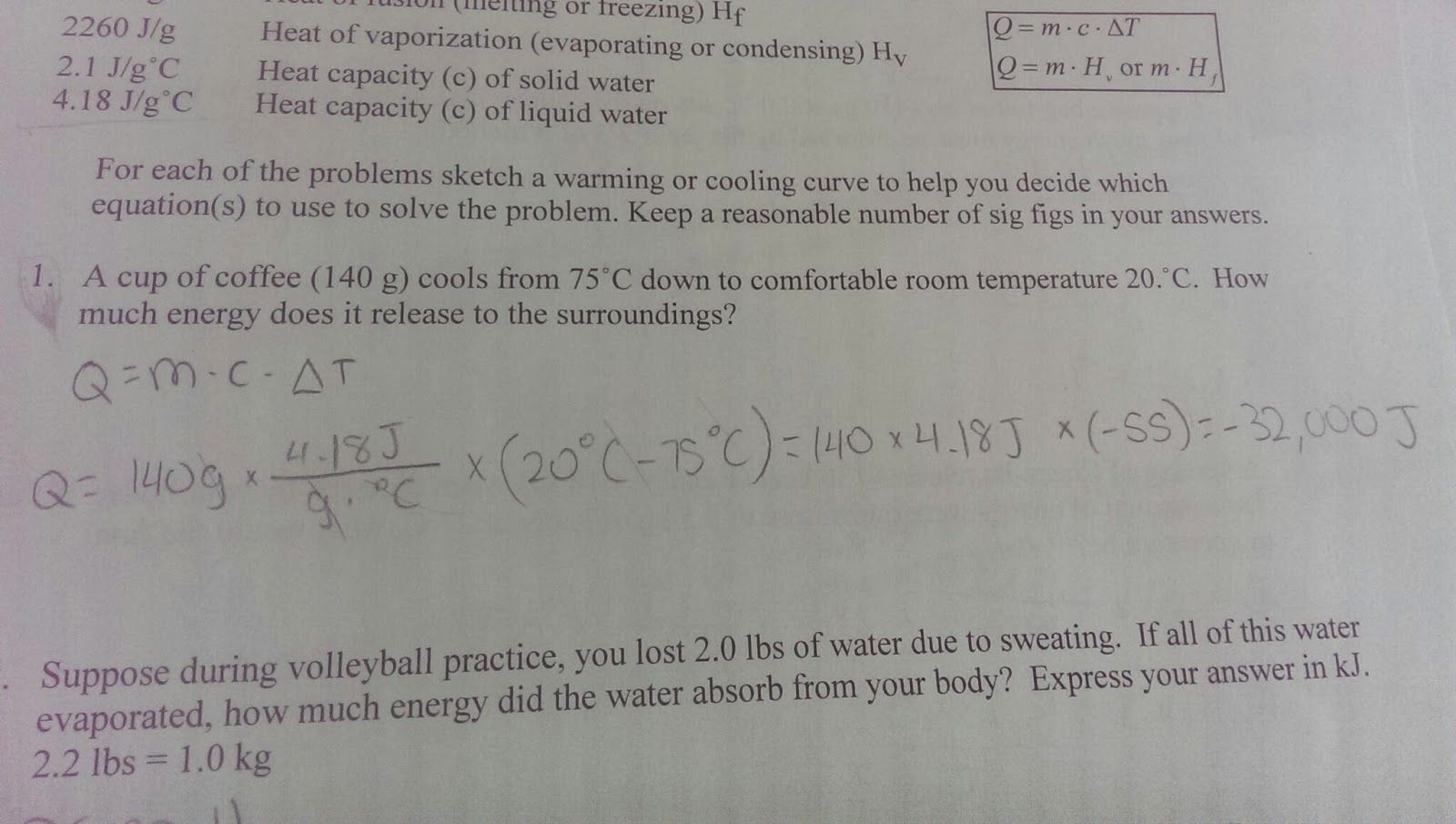 28 Unit 3 Worksheet 3 Quantitative Energy Problems Answers