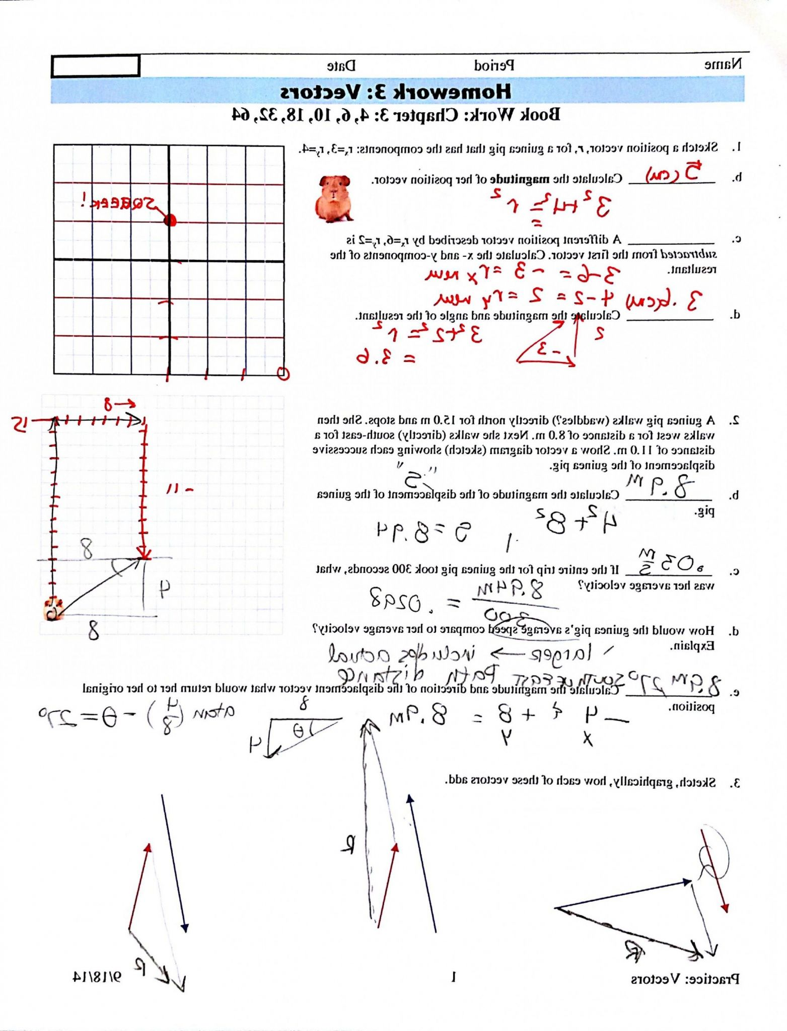 Vector Addition Worksheet Answers