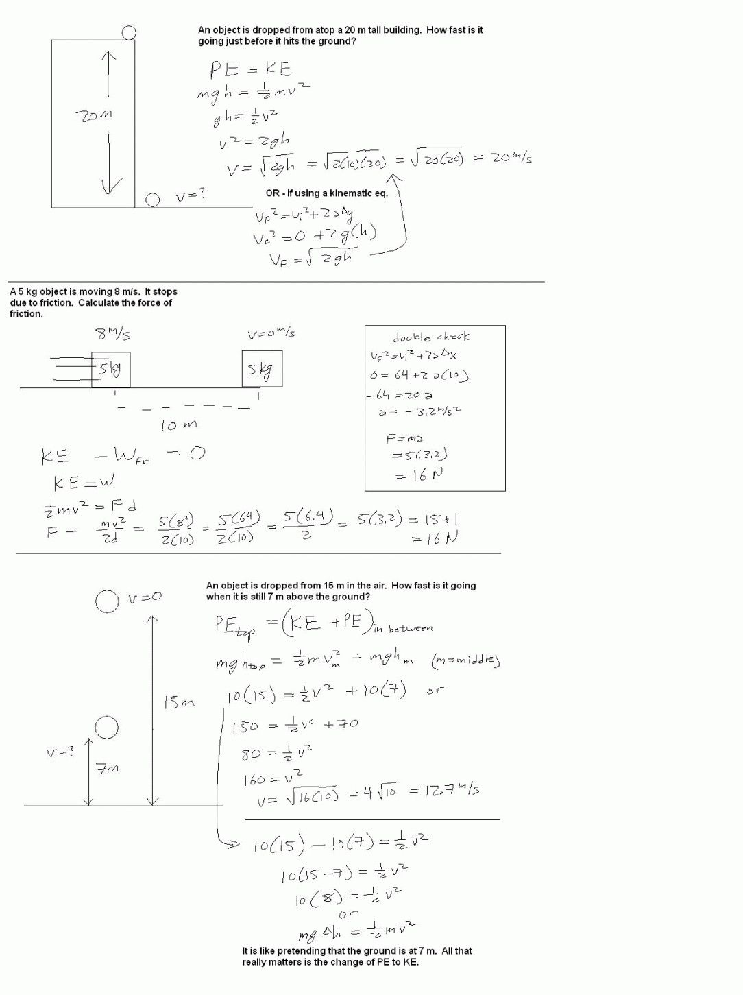 Work Power And Energy Worksheet Answer Key