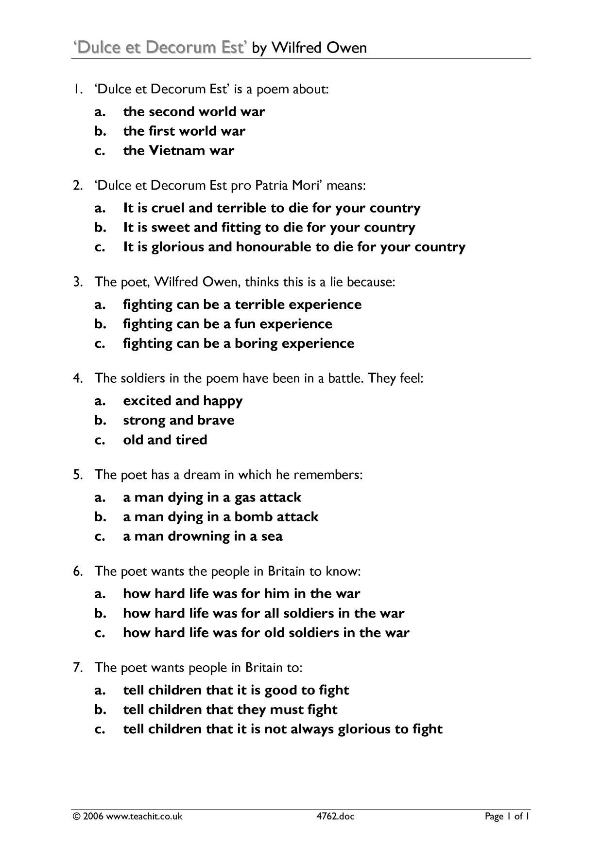 World War 1 And Its Aftermath Worksheet Answers