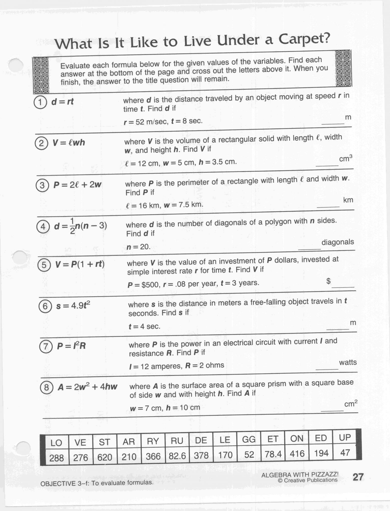 Year 8 Algebra Worksheets