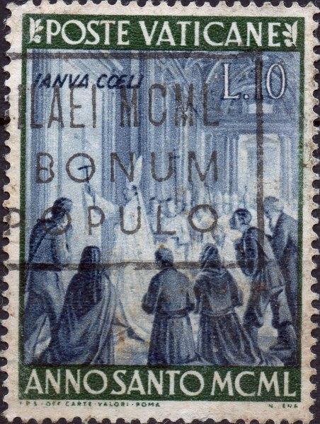 Briefmarke des Vatikan zum Jubeljahr 1950 - Pius XII