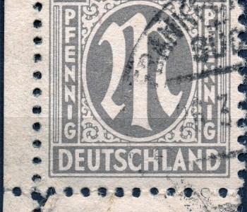 Briefmarke - Alliierte Besetzung Deutschlands - 1945 - AM Post 4 RPF - MiNr. 2