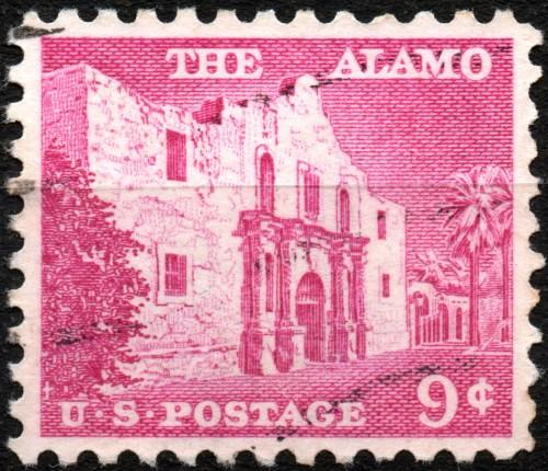 Scan: USA - 1956 - The Alamo, 9 ct.