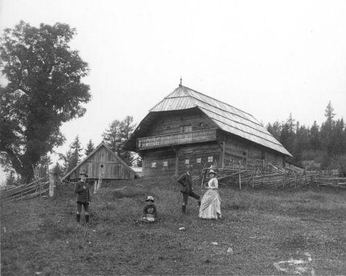 Das Geburthaus von Peter Rosegger um 1895 (aus WikiCommons)