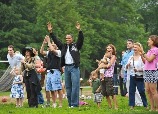 Barack Obama at Soccer Game - Getty Images