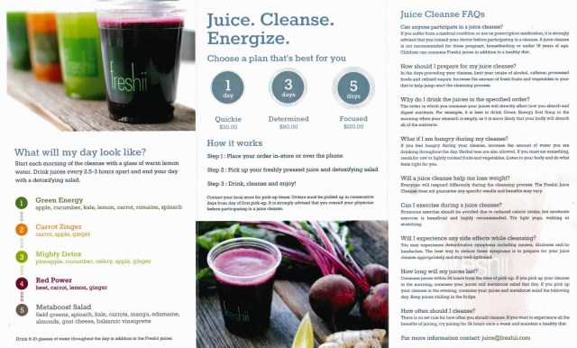 Freshii Juice Cleanse