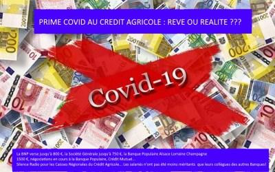 Prime COVID au Crédit Agricole