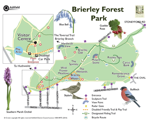 Brierley Forest Park Map