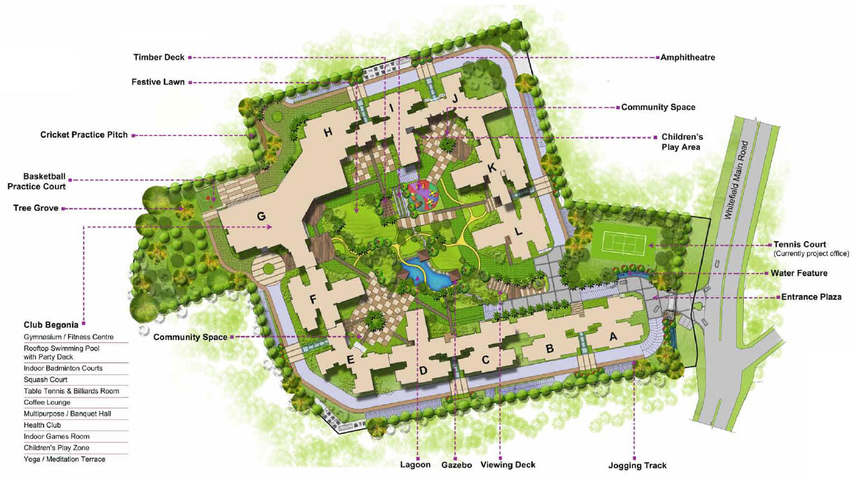 Luxurious Apartments Site Plans
