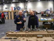 The game builder Phil (left), with club member Jeremey