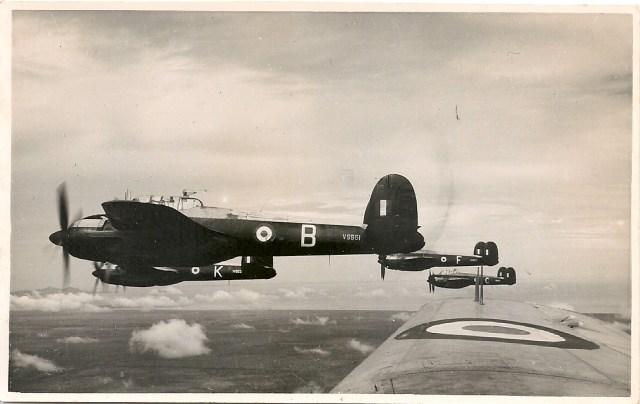 Bristol Brigand Aircraft flying in formation