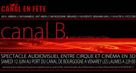 Canal B soirée spectacle sons et lumière