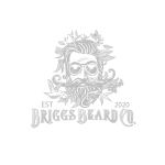 Briggs beard co logo in grayscale