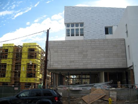 Westgate along Delacey with progress on facade