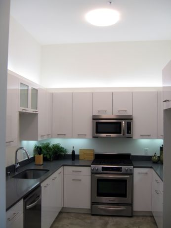 An example of a kitchen inside a 2-bedroom unit