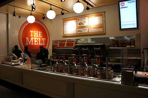 The Melt from San Francisco opened late last year providing their famous cheese melt sandwiches