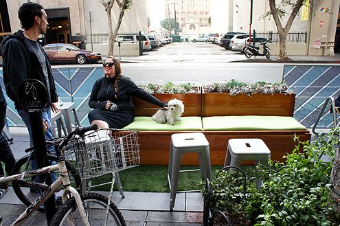 Parklets increase public seating capacity as well for people to enjoy