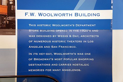 A short historical description of the Woolworth Building in Downtown LA