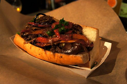 The Cheesesteak with grilled marinated Korean short ribs