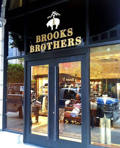 A new Brooks Brothers store opened this past weekend at the Jonathan Club in Downtown LA's Financial District
