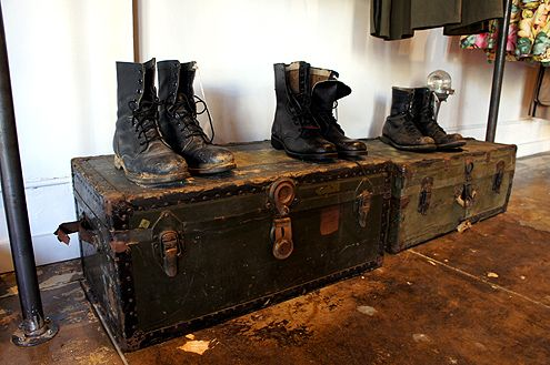 A small, handpicked assortment of vintage military boots