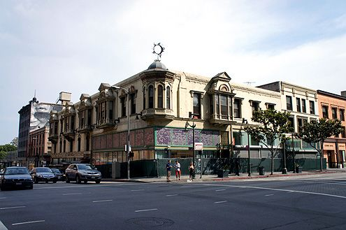 The Pershing Hotel at 5th and Main is one of the last Victorian structures in Downtown LA built in 1889