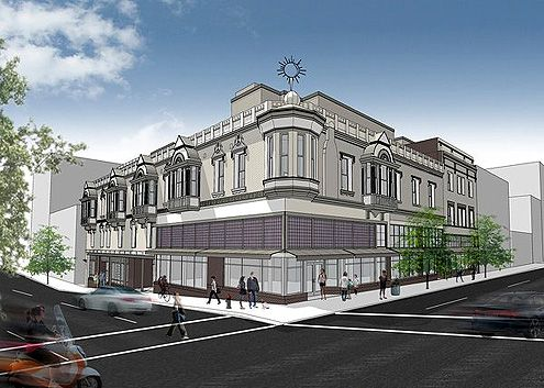 The Pershing Hotel begins construction, turning this priceless 1889 Victorian beauty into 69 affordable housing units at 5th and Main in the Historic Core (Photo: Killefer Flammang Architects)
