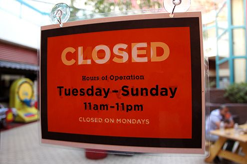 Chego has free validated underground parking (entrance off Broadway) and is closed on Mondays