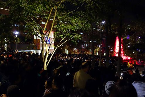 Thousands upon thousands gather inside Grand Park