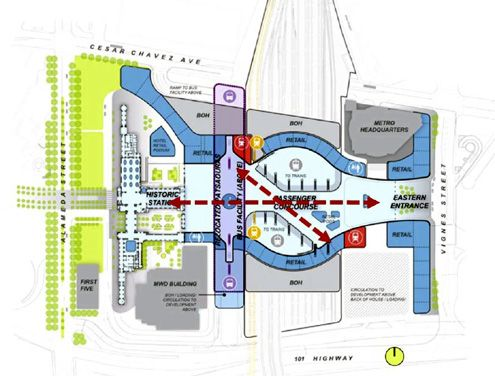 (Click to enlarge) Conceptual Site Plan: Recommended Approach for Union Station Master Plan