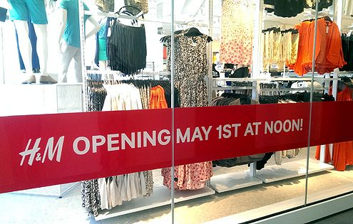H&M Opening May 1st at Noon!