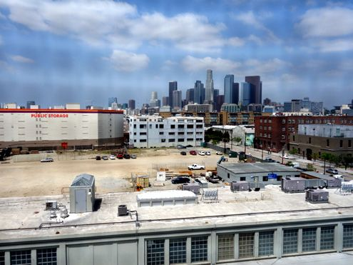 Looking west toward the beautiful Downtown LA skyline
