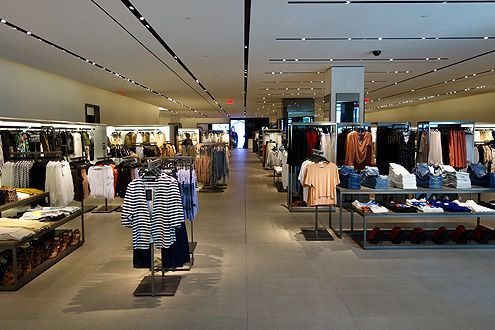 The gigantic women's store, which includes the children's store as well, takes up about 75% of the total space